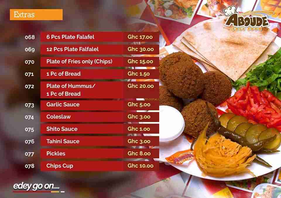 Aboude Price List