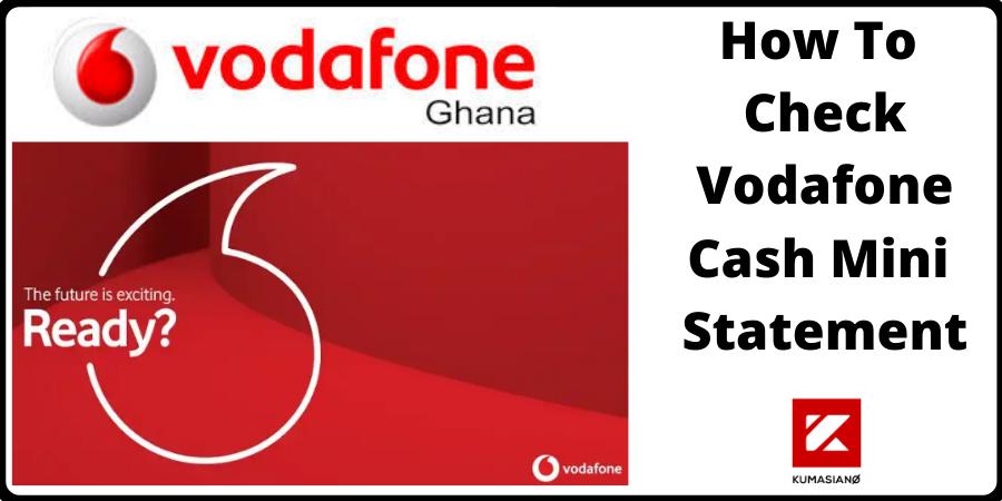 Check Vodafone Cash Mini Statement